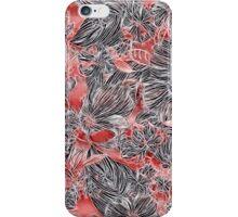 Energetic Flower Pattern, Red iPhone Case/Skin