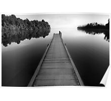 Jetty in Mono Poster