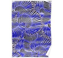 Black and Blue abstraction, pattern Poster