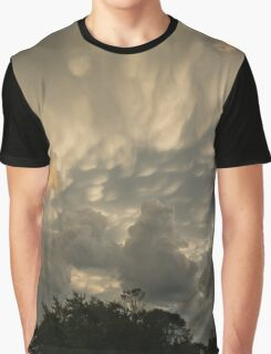 Sky Painting - Mammatus Clouds After A Storm Graphic T-Shirt