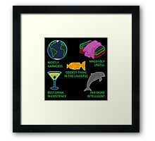Mostly Harmless, Massively Useful Framed Print