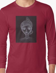 Ghost Girl Portrait  Long Sleeve T-Shirt