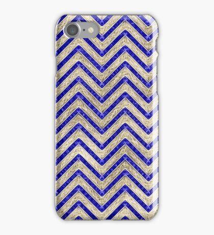 Gold And Blue Geometric Pattern iPhone Case/Skin