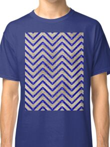 Gold And Blue Geometric Pattern Classic T-Shirt