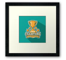 League Champions insignia Framed Print