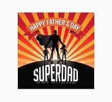 Happy Fathers Day Superdad burst Unisex T-Shirt