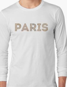 Original Paris: Around the world.. Wanderlust! Long Sleeve T-Shirt