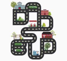 Dad's Bud Road Map Playtime Design Kids Tee