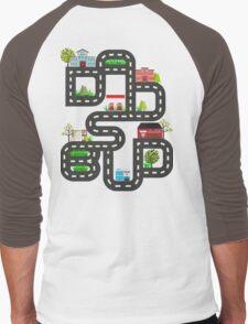 Dad's Bud Road Map Playtime Design Men's Baseball ¾ T-Shirt