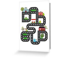 Dad's Bud Road Map Playtime Design Greeting Card