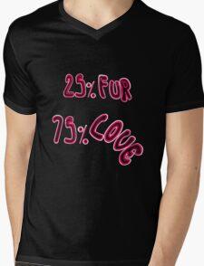 """25 % Fur 75 % Love"" Mens V-Neck T-Shirt"