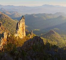 Bread Knife Dawn, Warrumbungles, New South Wales, Australia by Michael Boniwell