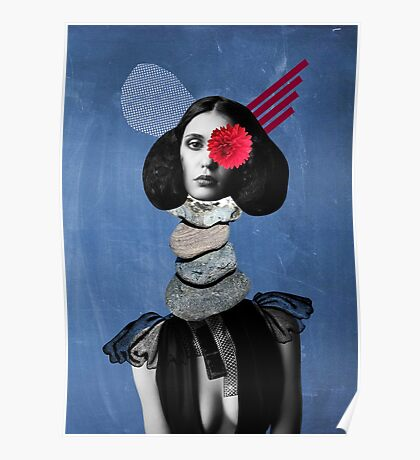 Surrealism, Surreal Collage, Whimsical Portrait, Geekery Poster