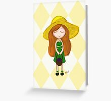 Blueberry Picker Greeting Card