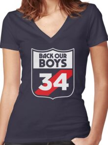 Back Our Boys Women's Fitted V-Neck T-Shirt