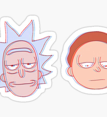 rick and morty in 3d Sticker