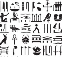Egyptian hieroglyphs Sticker