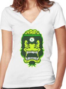 Irradiated Gorilla Brains Women's Fitted V-Neck T-Shirt