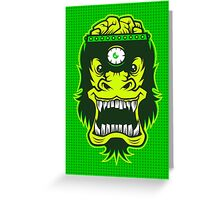 Irradiated Gorilla Brains Greeting Card