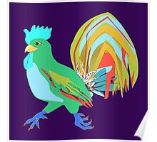 Feathery Noisemaker in Scream Green Poster