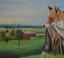 Red Fox at McClean Farm, Gettysburg by Charlotte Yealey