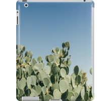 Large Prickly Pear Cactus against Blue Sky iPad Case/Skin