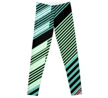 Abstract Striped Island Leggings