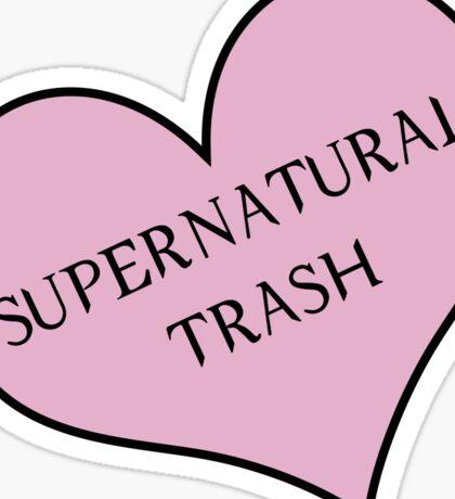 Supernatural trash Sticker
