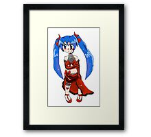 Brain Revolution Girl Chibi Framed Print