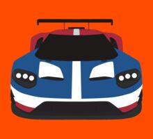 Ford GT Race car simplistic design Kids Tee