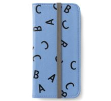 Alphabet ABC Letter Pattern iPhone Wallet/Case/Skin