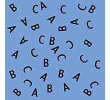Alphabet ABC Letter Pattern Photographic Print