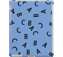 Alphabet ABC Letter Pattern iPad Case/Skin