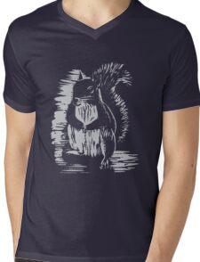 Silver Squirrel Mens V-Neck T-Shirt