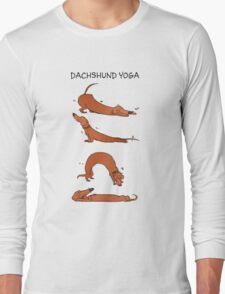 Dachshund Yoga Long Sleeve T-Shirt