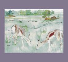 Sketching in the Game Reserve - Springbuck Kids Tee