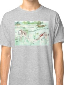 Sketching in the Game Reserve - Springbuck Classic T-Shirt