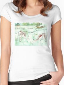 Sketching in the Game Reserve - Springbuck Women's Fitted Scoop T-Shirt