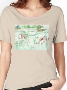 Sketching in the Game Reserve - Springbuck Women's Relaxed Fit T-Shirt
