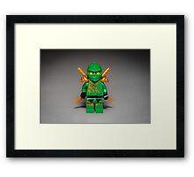 Ninja Green Framed Print