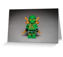 Ninja Green Greeting Card