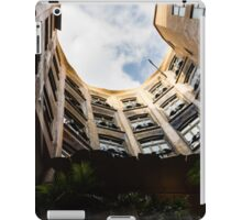 A Courtyard Shaped Like a Hug - Antoni Gaudi's La Pedrera or Casa Mila in Barcelona, Spain iPad Case/Skin