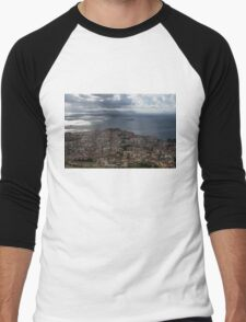 A Bird's-eye View of Naples, Italy Men's Baseball ¾ T-Shirt