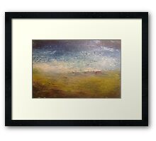 Empty beach with thongs Framed Print