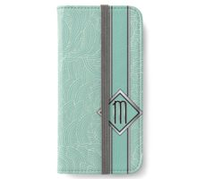 1920s Blue Deco Swing with Monogram letter M iPhone Wallet/Case/Skin