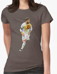 Sergio Ramos - Spain Render Womens Fitted T-Shirt