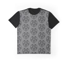 Pentagram in Grey and Black Graphic T-Shirt