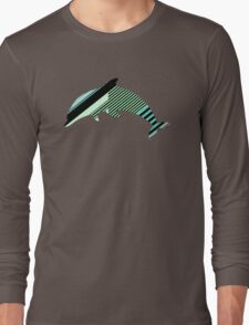 Abstract Striped Island Long Sleeve T-Shirt