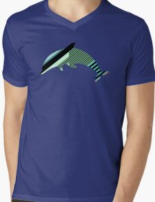 Abstract Striped Island Mens V-Neck T-Shirt