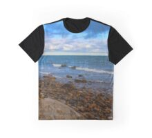 Rocky Coast Of Long Island Sound | Montauk, New York Graphic T-Shirt